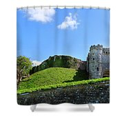 Carisbrooke Castle - Isle Of Wight Shower Curtain
