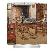 Carl Larsson - Peek-a-boo 1901 Shower Curtain