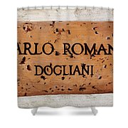 Carlo Romana - Dogliani Shower Curtain