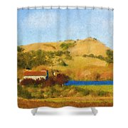 Carneros Valley Shower Curtain
