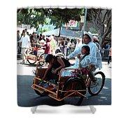 Carnival Cart Shower Curtain