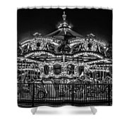 Carousel At Night Shower Curtain