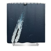 Carrier Strike Group Formation Of Ships Shower Curtain by Stocktrek Images