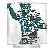 Carson Wentz Philadelphia Eagles Pixel Art 5 Shower Curtain