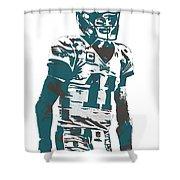 Carson Wentz Philadelphia Eagles Pixel Art 6 Shower Curtain