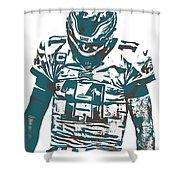 Carson Wentz Philadelphia Eagles Pixel Art 7 Shower Curtain
