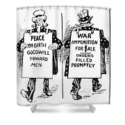 Cartoon: U.s. Neutrality Shower Curtain