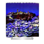 Casares By Night Shower Curtain
