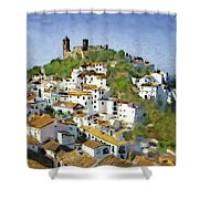 Casares Rooftops Shower Curtain