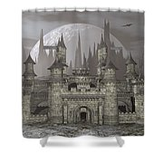 Castle By Night - 3d Render Shower Curtain