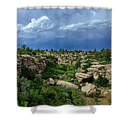 Castlewood Canyon And Rain Shower Curtain