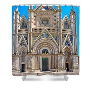 Cathedral Of Orvieto, Duomo Di Orvieto, Umbria, Italy Shower Curtain
