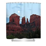 Cathedral Rock Moon 081913 A2 Shower Curtain
