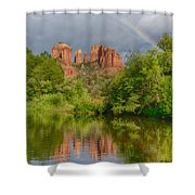 Cathedral Rock Rainbow Shower Curtain
