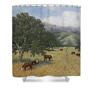 Cattle Shower Curtain by Marv Anderson