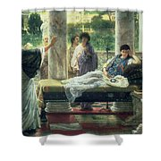 Catullus Reading His Poems Shower Curtain