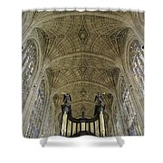 Ceiling Of Kings College Chapel Shower Curtain