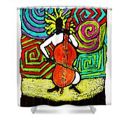 Cello Soloist Shower Curtain