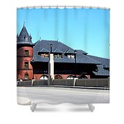 Central New Jersey Railroad Station Shower Curtain