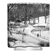Central Park 6 Shower Curtain by Wayne Gill