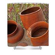 Ceramic Pots Shower Curtain