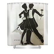 Cha Cha In The Shadows Shower Curtain by Mimi Eskenazi