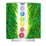Chakra Garden Shower Curtain