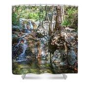 Chantara Waterfalls - Cyprus Shower Curtain