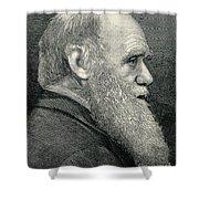 Charles Darwin, English Naturalist Shower Curtain