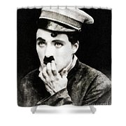 Charlie Chaplin, Vintage Actor And Comedian Shower Curtain