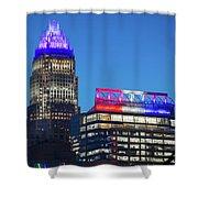 Charlotte North Carolina Skyline City View Shower Curtain
