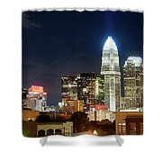 Charlotte Skylilne At Night Shower Curtain