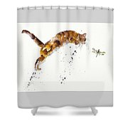 Chasing The Dragon Shower Curtain