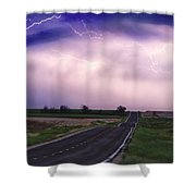 Chasing The Storm - County Rd 95 And Highway 52 - Colorado Shower Curtain