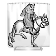 Chaucer: The Man Of Law Shower Curtain