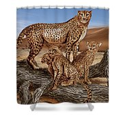 Cheetah Family Tree Shower Curtain