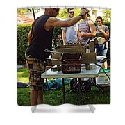 Chef Cooking Shower Curtain