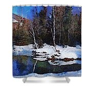 Chena Hot Springs Shower Curtain