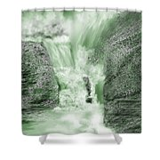 Cherry Creek Lower Run Shower Curtain by Anne Norskog