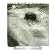 Cherry Creek White Water Shower Curtain