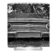 Chevrolet Bel Air Black And White 2 Shower Curtain