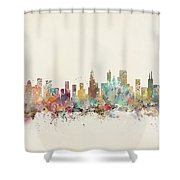 Chicago City Shower Curtain