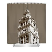Chicago Clock Tower Shower Curtain