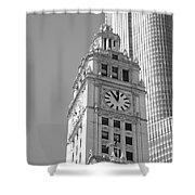 Chicago Clocktower Shower Curtain