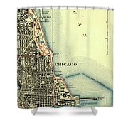 Chicago Old Map Shower Curtain