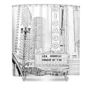Chicago Theater Marquee Shower Curtain