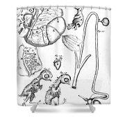 Chick Embryology, Malpighi, 1687 Shower Curtain