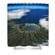 Chicxulub Crater, Illustration Shower Curtain