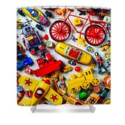 Childhood Toys Shower Curtain
