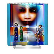 Children Of The Universe Shower Curtain